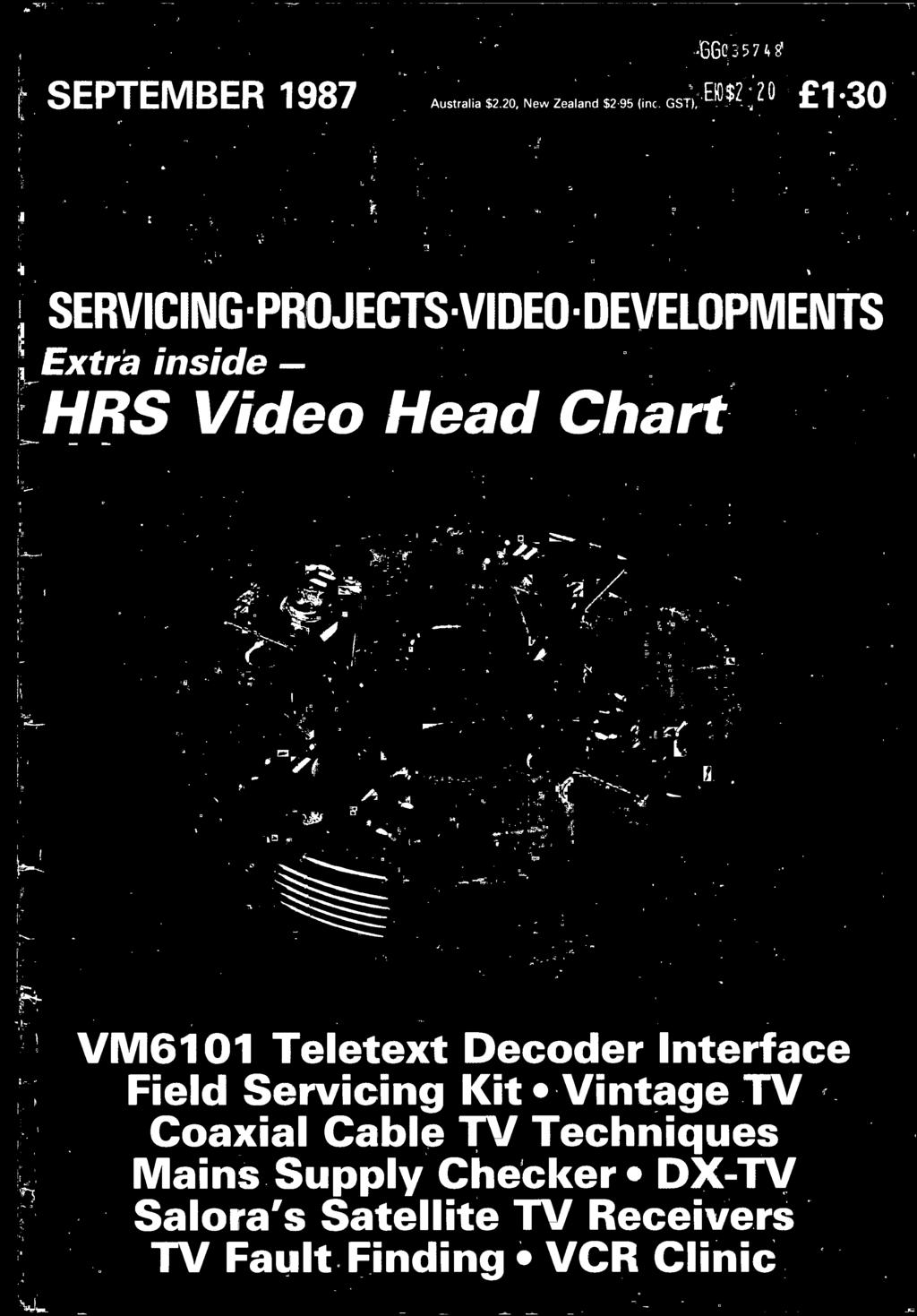 Hrs Video Head Chart Pdf 1983 Bmw R11 Classic Fuse Box Diagram Field Servicing Kit Vintage Tv Coaxial Cable