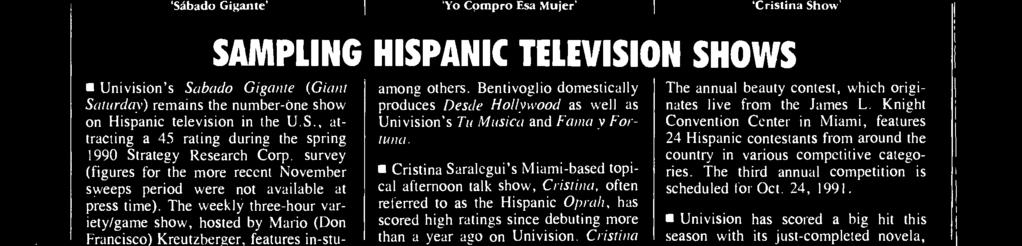 Cristina was the number -eight show among all households in the spring 1990 Strategy Research Corp.