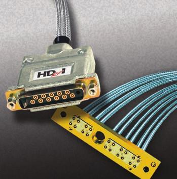 RF D-Sub The RF D-Sub connector family is available in four different shell sizes and can be used in cable to cable, cable to board or board to board applications.