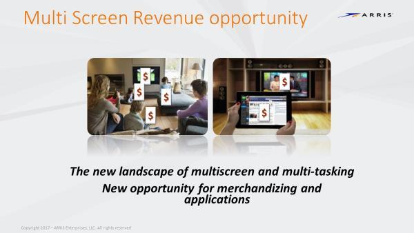 Figure 96 - There is an Opportunity to Generate New Experiences and Revenue Opportunities across All Screens A new area of home digital lifestyle can be mapped to the screens in