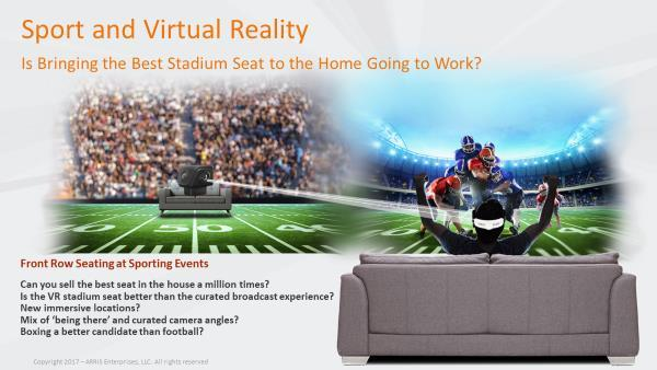 Figure 110 - Will Live VR Bring the Best Seat in the Sporting Event to our Living Room Chair?
