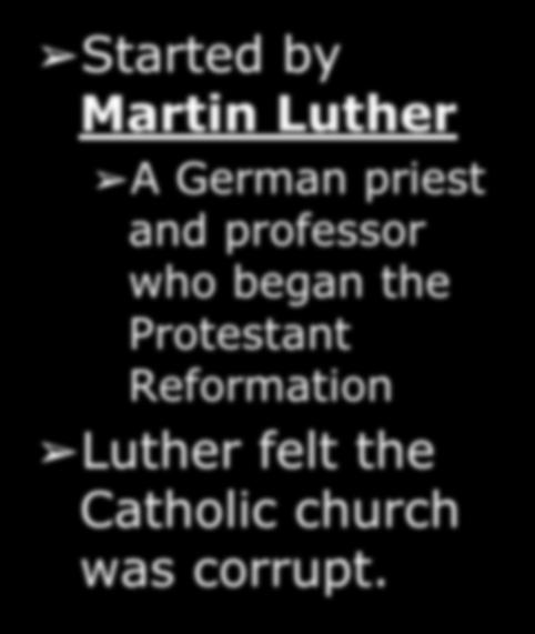 The Reformation Started by Martin