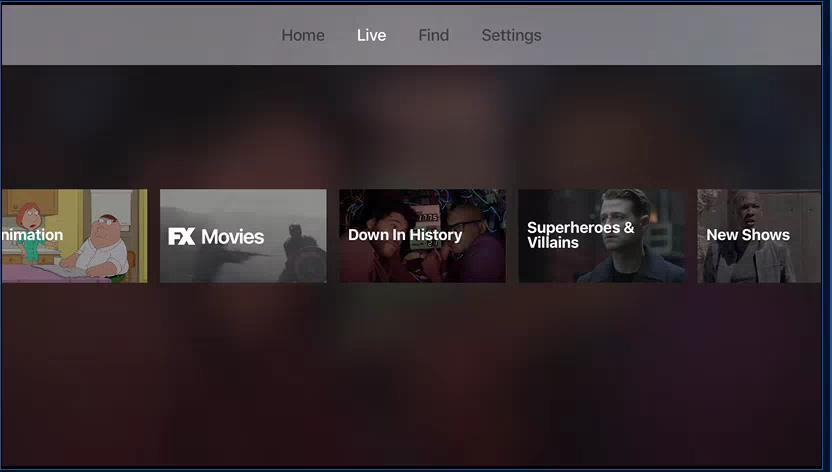Authenticated services - Fox Now Just released Fox app for Apple TV Combines Fox family of channels Linear channels as broadcast on TV Some