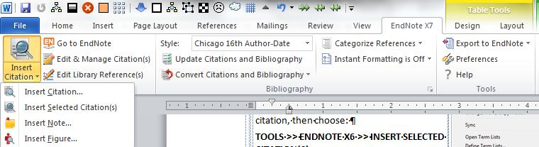 FORMAT BIBLIOGRAPHY lets you reformat your footnotes to another citation style (i.e., APA, Chicago).